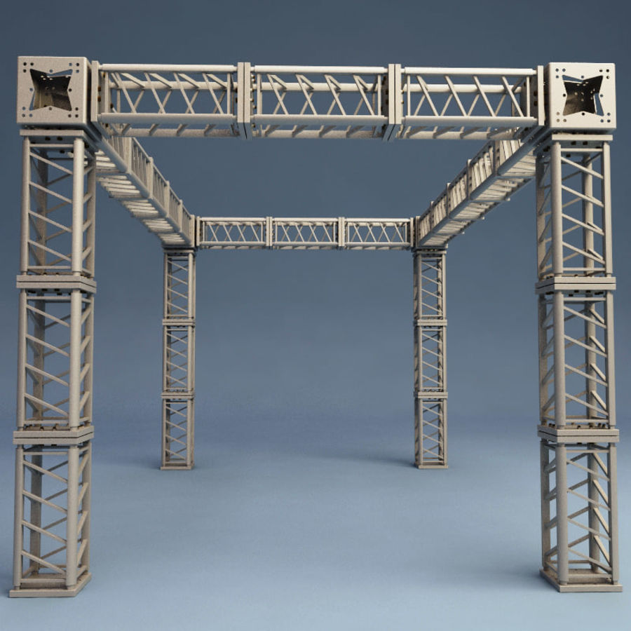 Steel Truss collection royalty-free 3d model - Preview no. 12