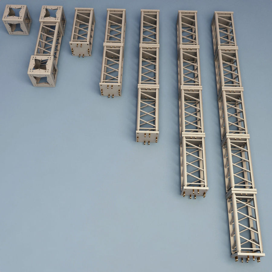 Steel Truss collection royalty-free 3d model - Preview no. 2