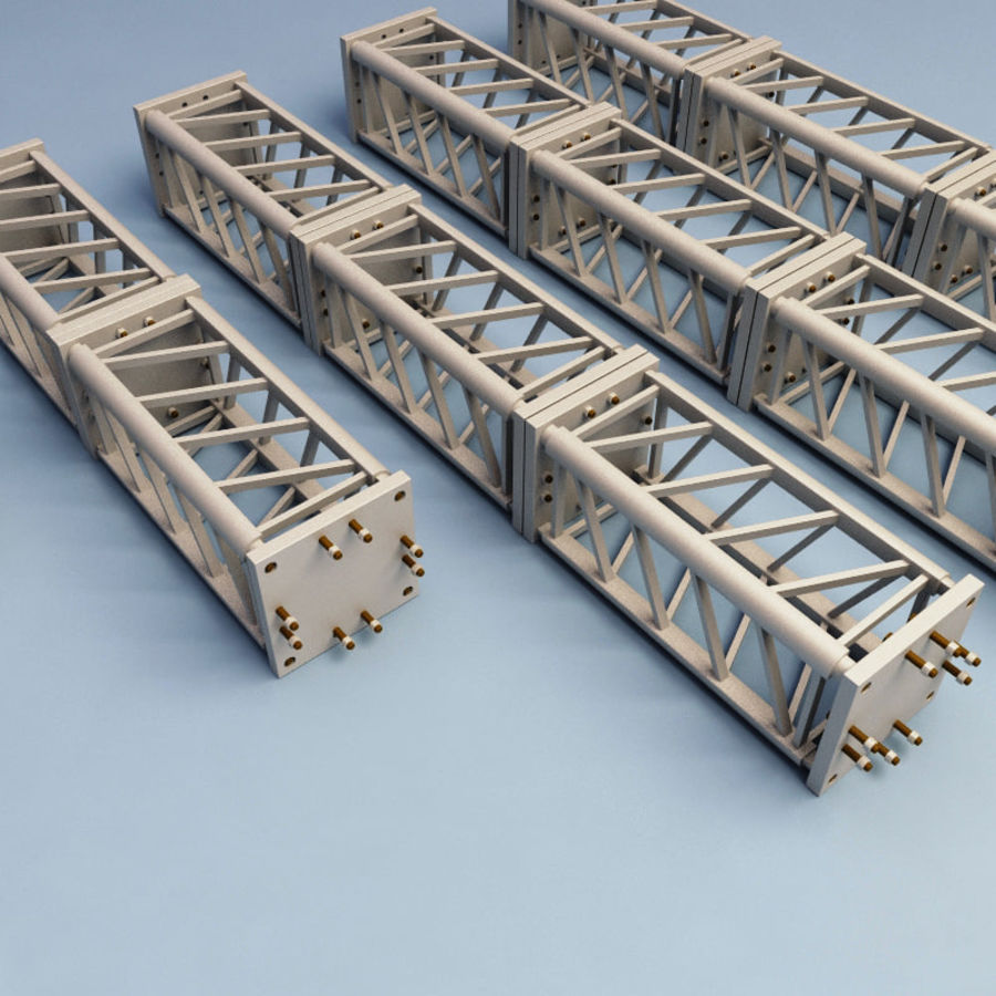 Steel Truss collection royalty-free 3d model - Preview no. 6