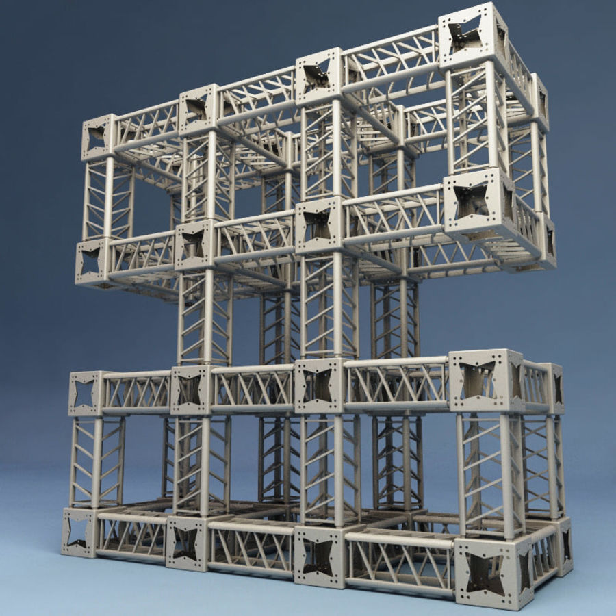 Steel Truss collection royalty-free 3d model - Preview no. 9