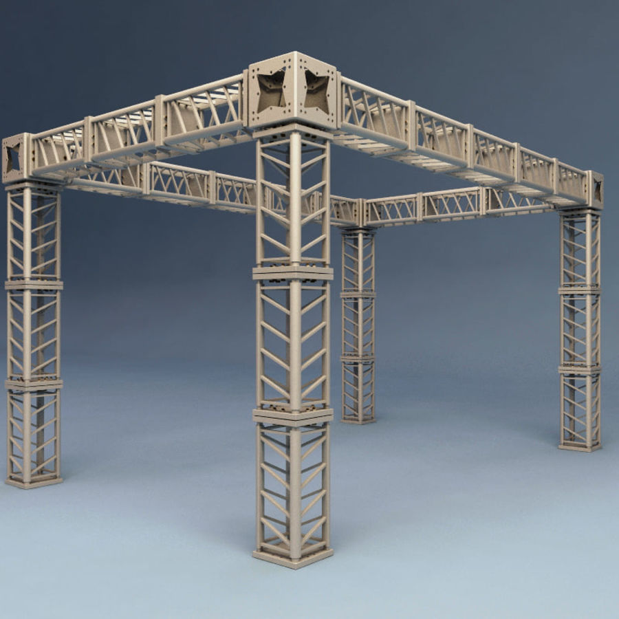 Steel Truss collection royalty-free 3d model - Preview no. 11