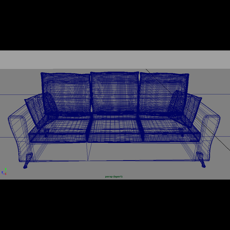 Modern living room royalty-free 3d model - Preview no. 15
