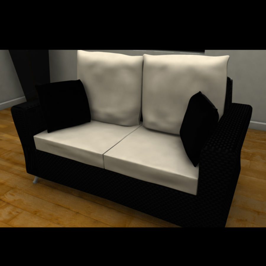Modern living room royalty-free 3d model - Preview no. 7