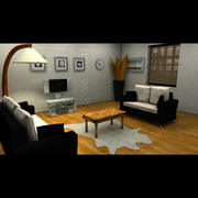 Modern oturma odası 3d model