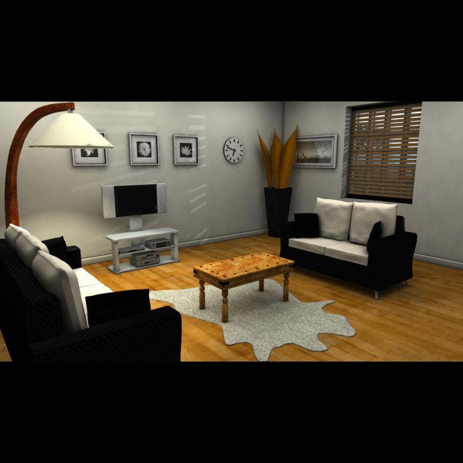 Salon moderne modèle 3D $35 - .ma .fbx - Free3D