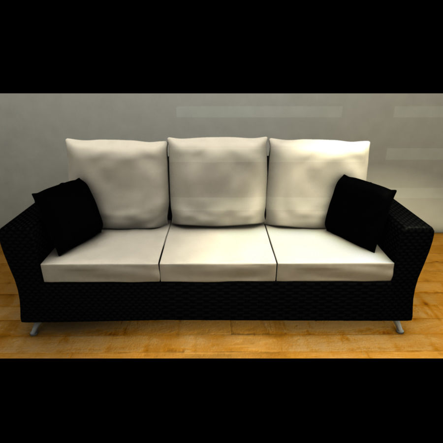 Modern living room royalty-free 3d model - Preview no. 5