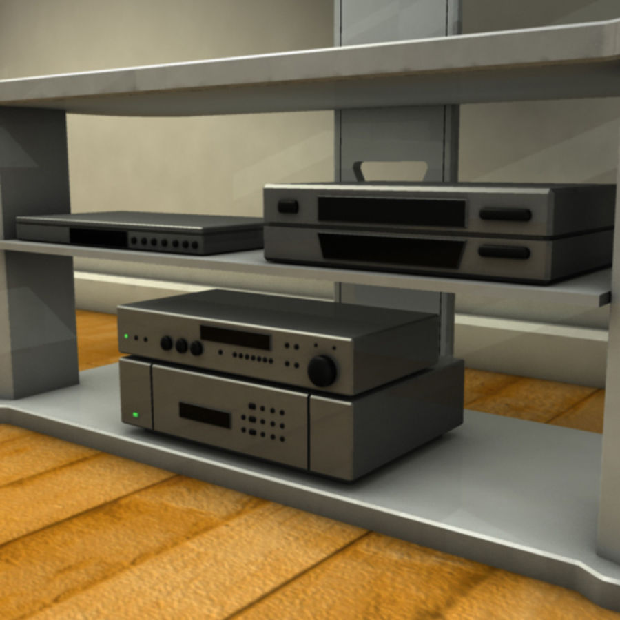 Modern living room royalty-free 3d model - Preview no. 8