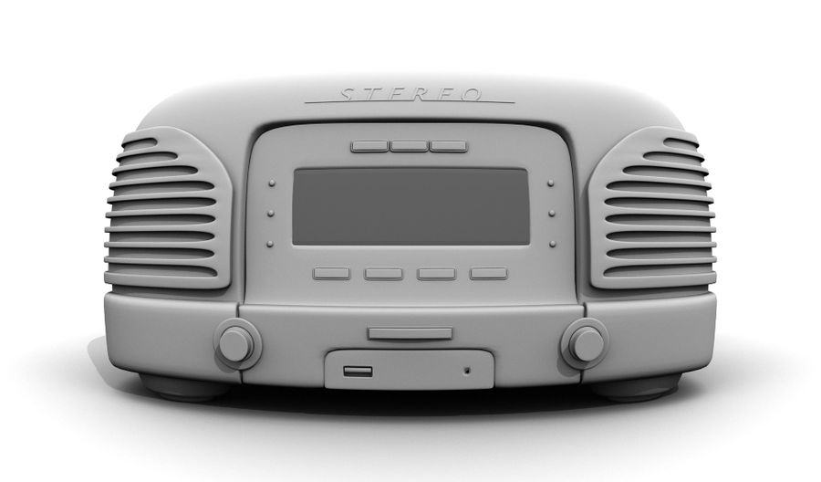 Radio royalty-free 3d model - Preview no. 5