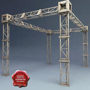 Steel Truss collection V2 3d model