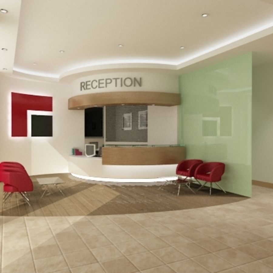 Interior Reception Scene royalty-free 3d model - Preview no. 2