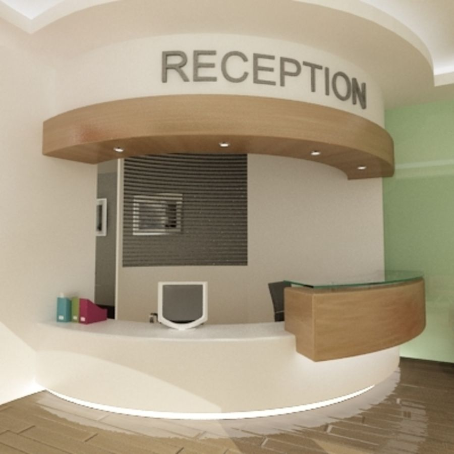 Interior Reception Scene royalty-free 3d model - Preview no. 3