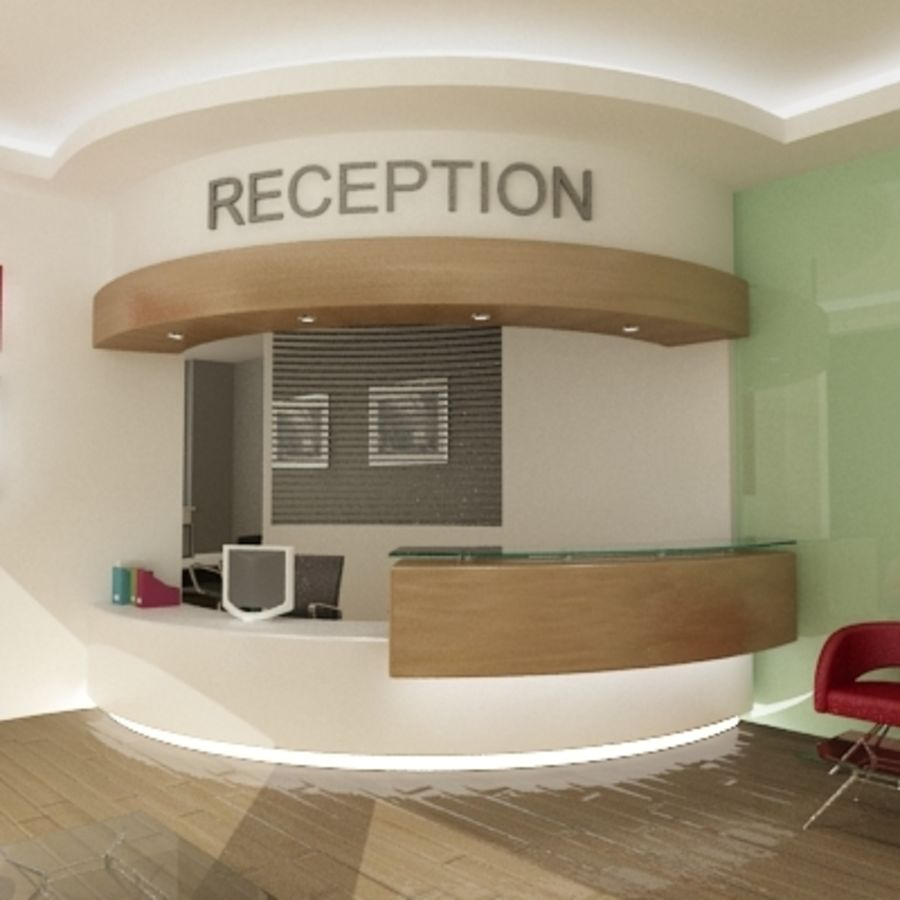 Interior Reception Scene royalty-free 3d model - Preview no. 1