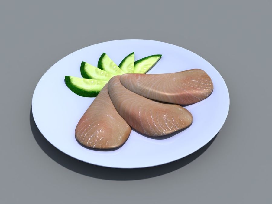 Colección de alimentos royalty-free modelo 3d - Preview no. 9