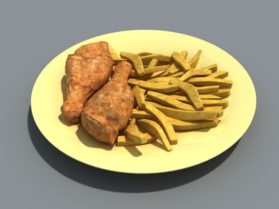 Colección de alimentos royalty-free modelo 3d - Preview no. 3