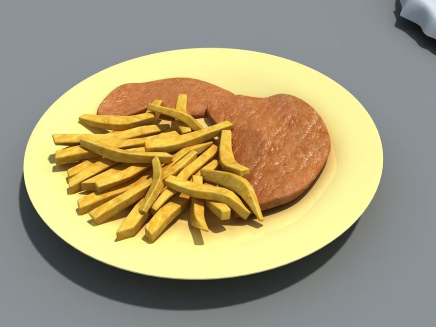 Colección de alimentos royalty-free modelo 3d - Preview no. 7