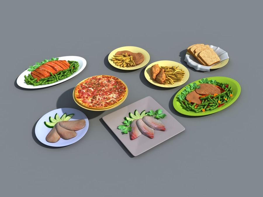 Colección de alimentos royalty-free modelo 3d - Preview no. 1