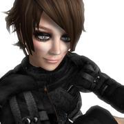 Action Girl 3d model