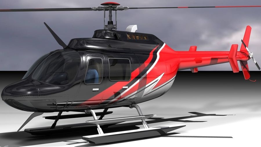 JetRanger III.rar royalty-free 3d model - Preview no. 2