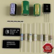 Componentes electrónicos modelo 3d