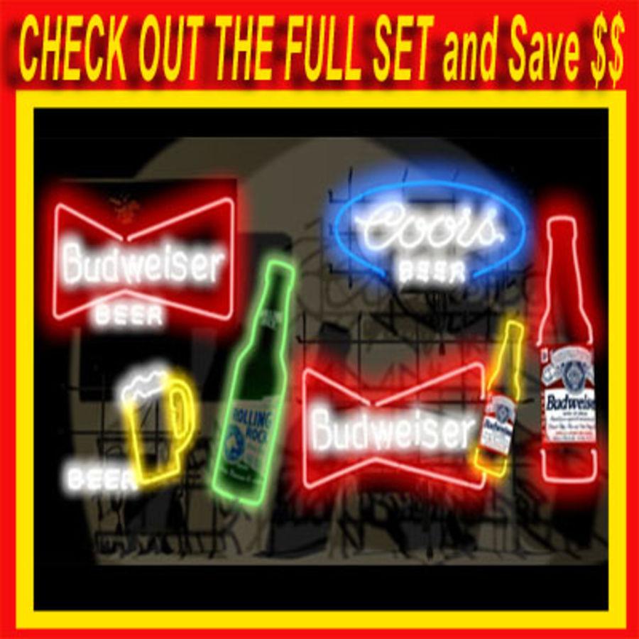 Bud Neon Sign 01 Modelo 3D $35 -  wrl  w3d  obj  max  fbx