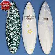Surfboards collection 3d model