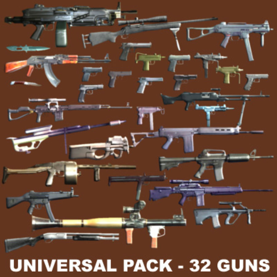 weapons pack royalty-free 3d model - Preview no. 2