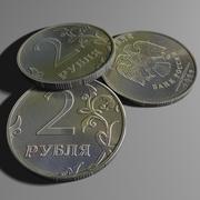 2 рубля 3d model