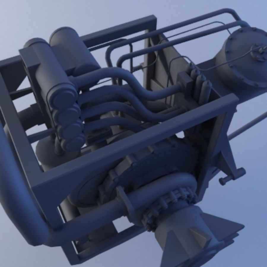 Rocket Engine royalty-free 3d model - Preview no. 5