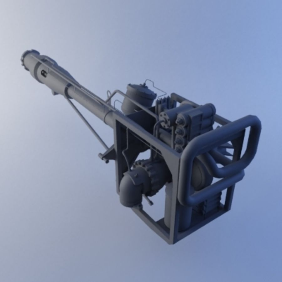 Rocket Engine royalty-free 3d model - Preview no. 2