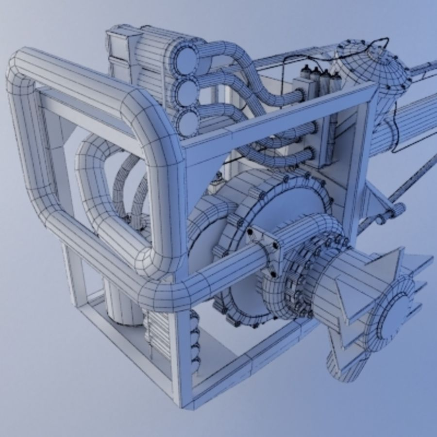 Rocket Engine royalty-free 3d model - Preview no. 11