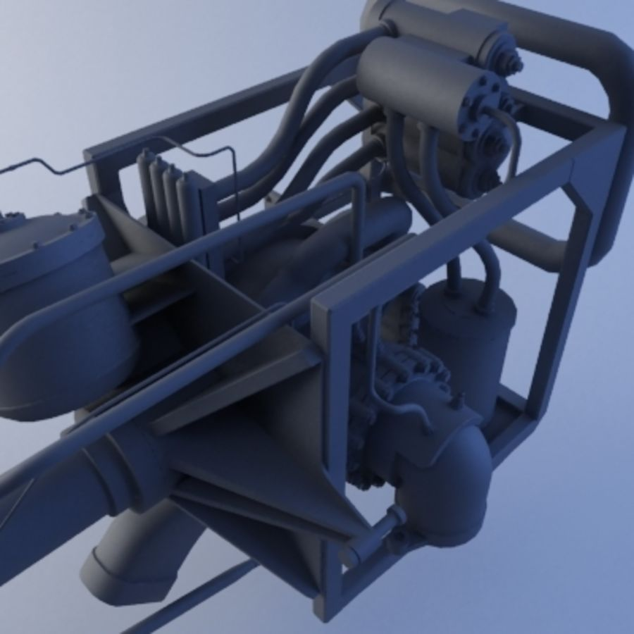 Rocket Engine royalty-free 3d model - Preview no. 13