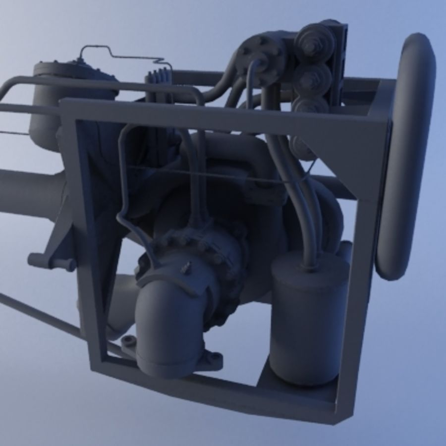 Rocket Engine royalty-free 3d model - Preview no. 3