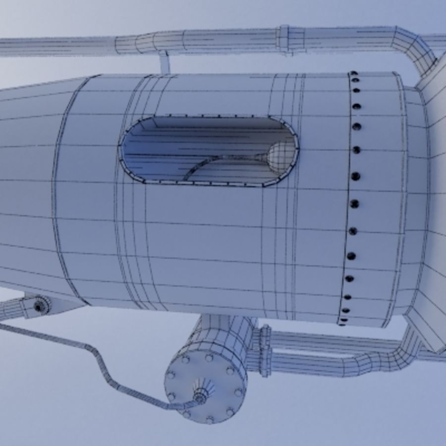 Rocket Engine royalty-free 3d model - Preview no. 8