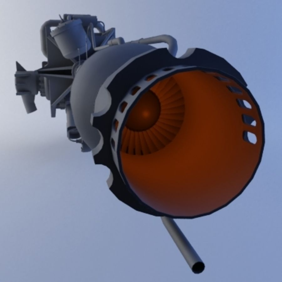 Rocket Engine royalty-free 3d model - Preview no. 6