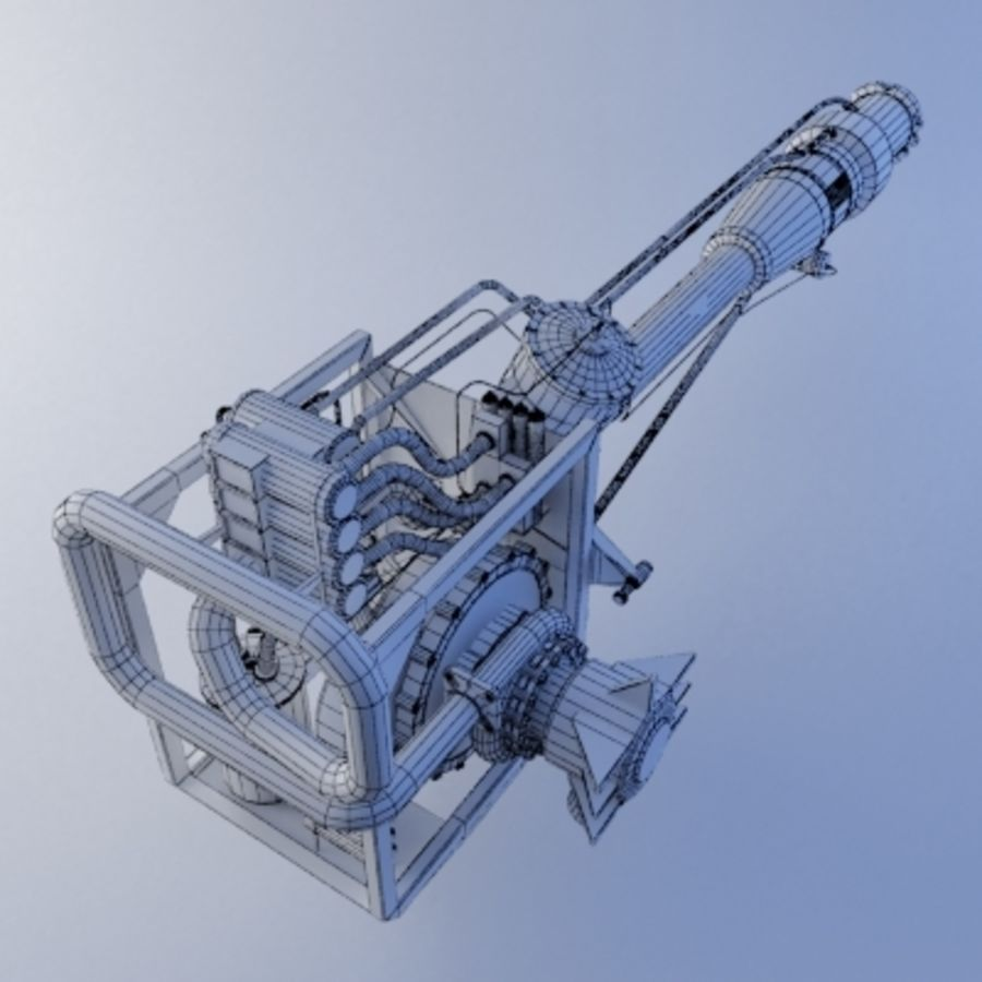 Rocket Engine royalty-free 3d model - Preview no. 9
