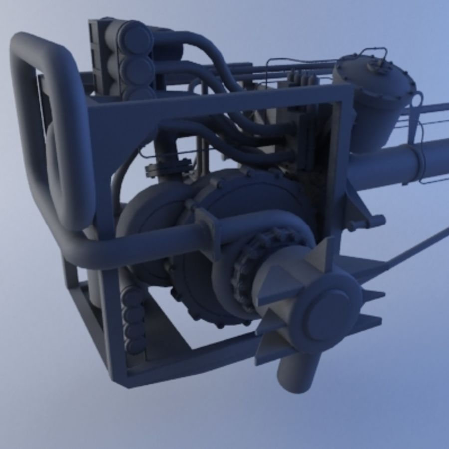 Rocket Engine royalty-free 3d model - Preview no. 4