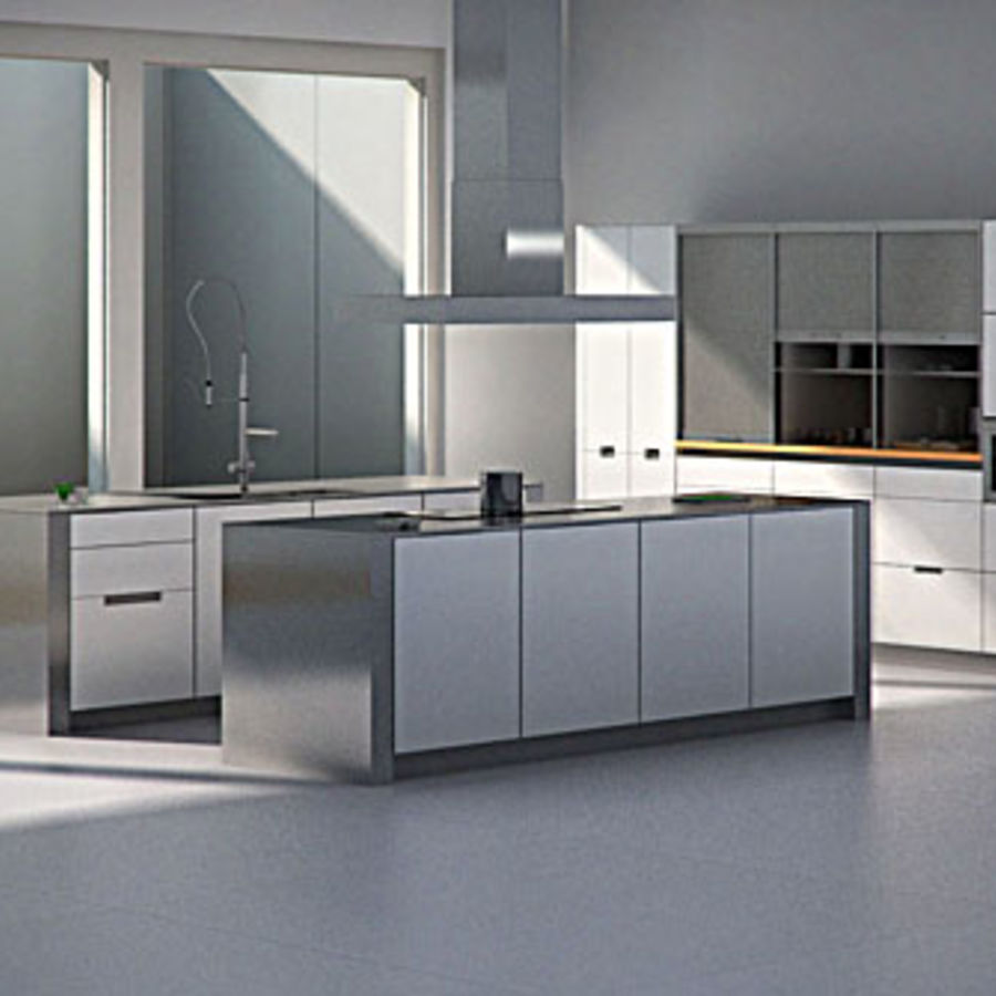 Kitchen Design 3d Model: .obj .fbx .3ds .oth .max
