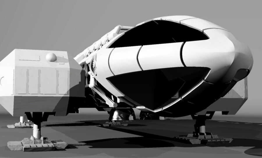 eagle 1 space1999 max.7z royalty-free 3d model - Preview no. 2