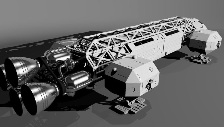 eagle 1 space1999 max.7z royalty-free 3d model - Preview no. 5