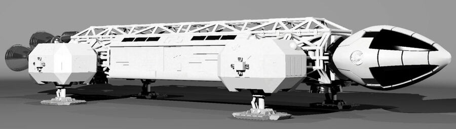eagle 1 space1999 max.7z royalty-free 3d model - Preview no. 3