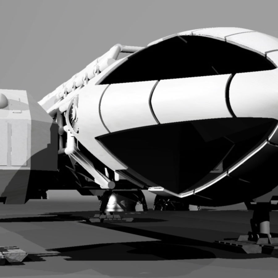 eagle 1 space1999 max.7z royalty-free modelo 3d - Preview no. 2