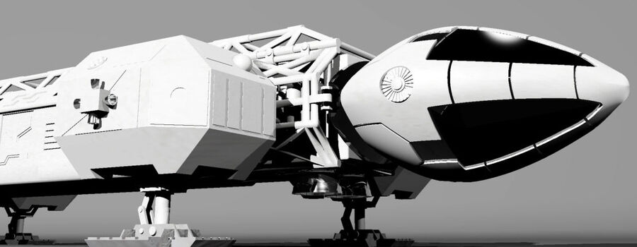 eagle 1 space1999 max.7z royalty-free 3d model - Preview no. 6