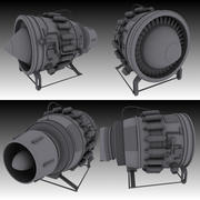 Hi-poly Jet Engine model 3d model