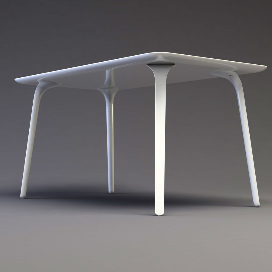 First table royalty-free 3d model - Preview no. 1