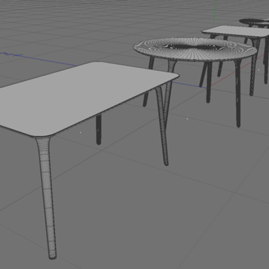 First table royalty-free 3d model - Preview no. 3