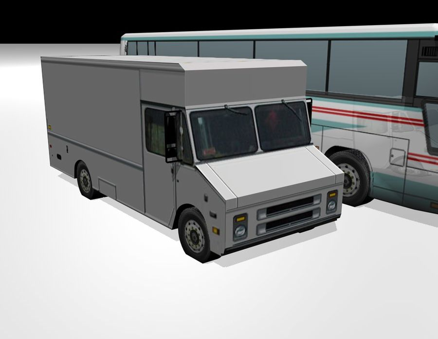 City Vehicles royalty-free 3d model - Preview no. 4