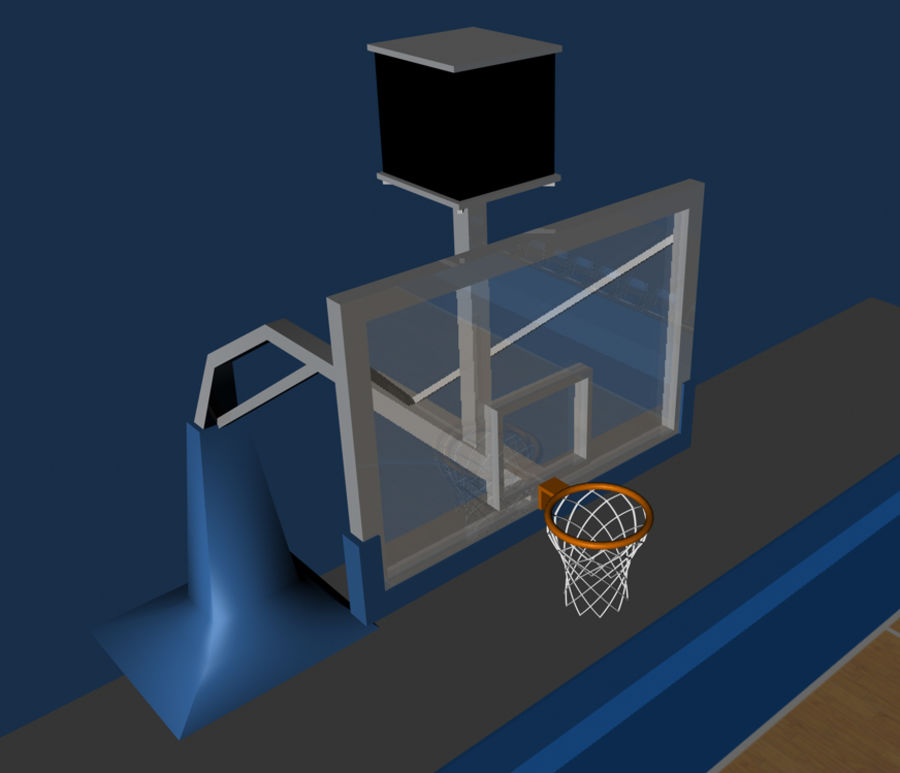 Basketball Court royalty-free 3d model - Preview no. 5