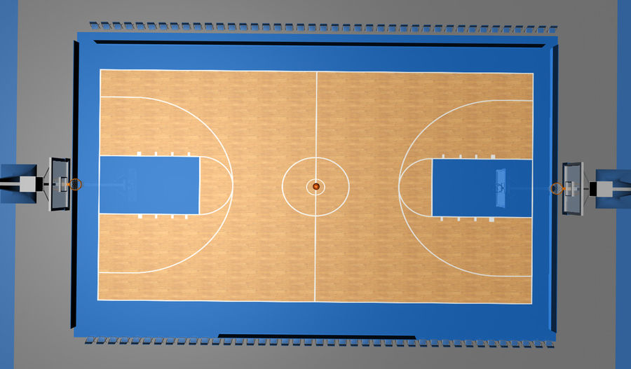 Basketball Court royalty-free 3d model - Preview no. 1