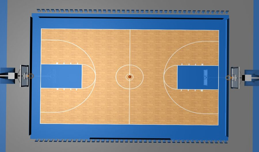 Basketball Court royalty-free 3d model - Preview no. 4