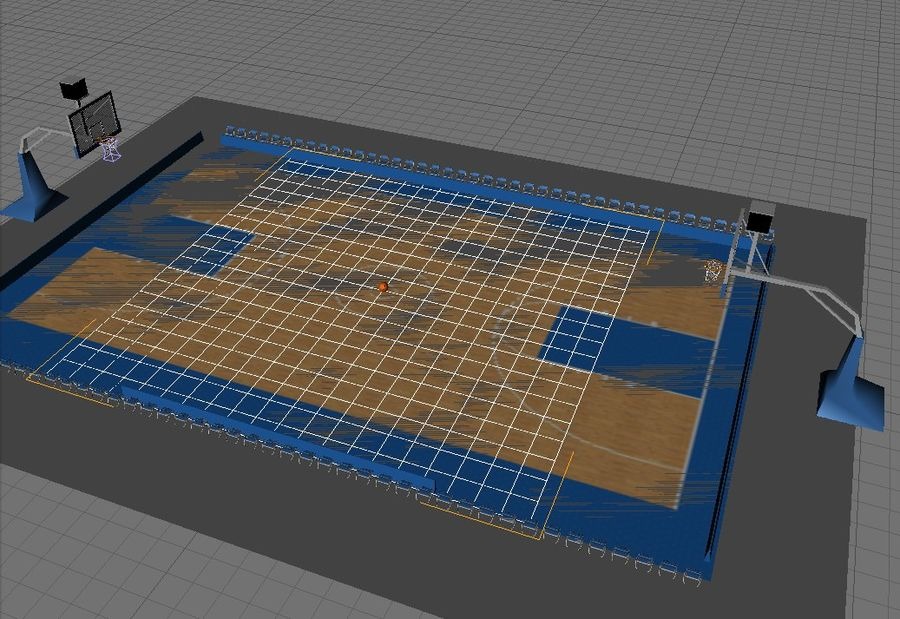 Basketball Court royalty-free 3d model - Preview no. 2